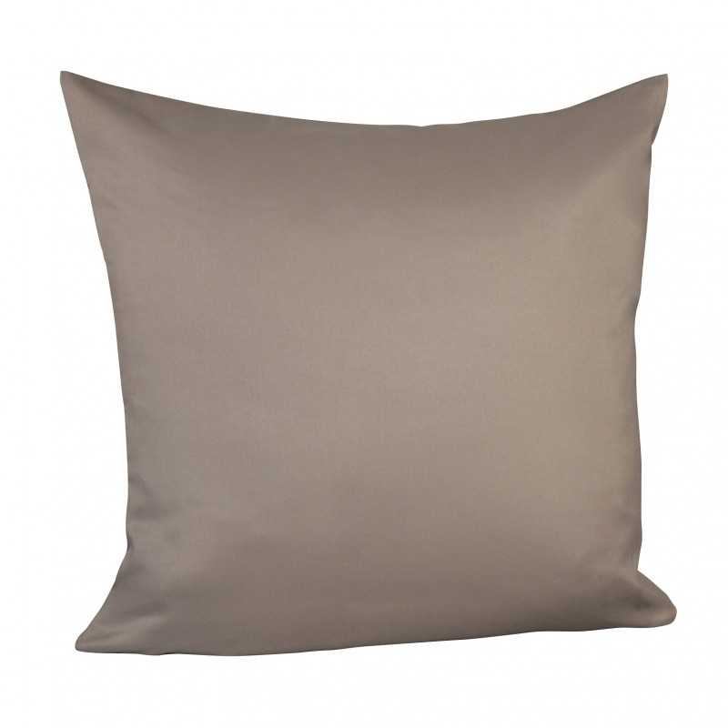 Taie d'oreiller taupe confort