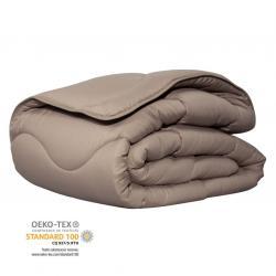 Couette confort taupe certifiée Oeko-Tex®
