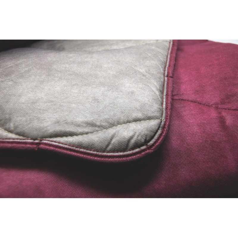 couette eco bicolore taupe bordeaux subrenat. Black Bedroom Furniture Sets. Home Design Ideas